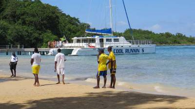 Beach at Dunn's River Falls, Visit Jamaica