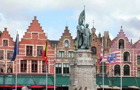 Market Square, Bruges, Amsterdam Layover