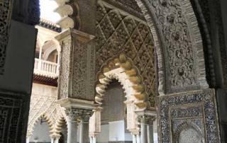 Arches, Royal Alcazar, Seville, Seville Cordoba Ronda Tour