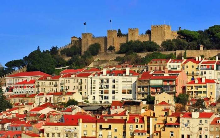 St George's Castle from Baixa, Visit Lisbon