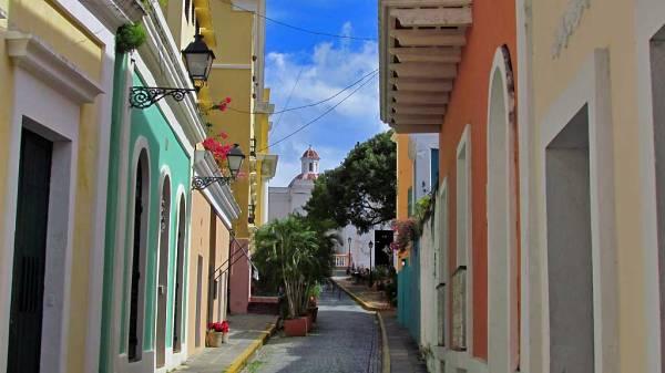 Quaint Street View, Old San Juan, Puerto Rico