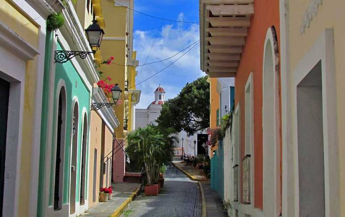 Quaint Street View, Old San Juan, Puerto Rico
