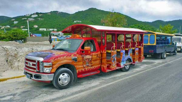 Open Air Tourist Bus, Road Town, Tortola, Visit the BVI