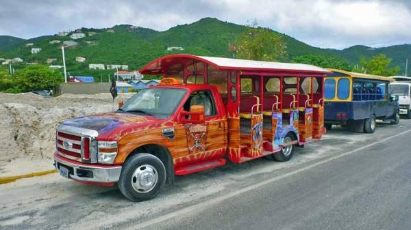 Open Air Tourist Bus, Road Town, Tortola, Visit the BVI