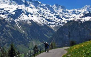 Walk from Mürren to Gimmelwald, Schilthorn Day Trip, Switzerland