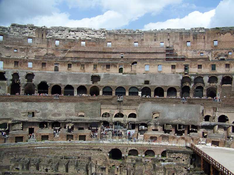 Colosseum Ruins Interior, Two Days in Rome