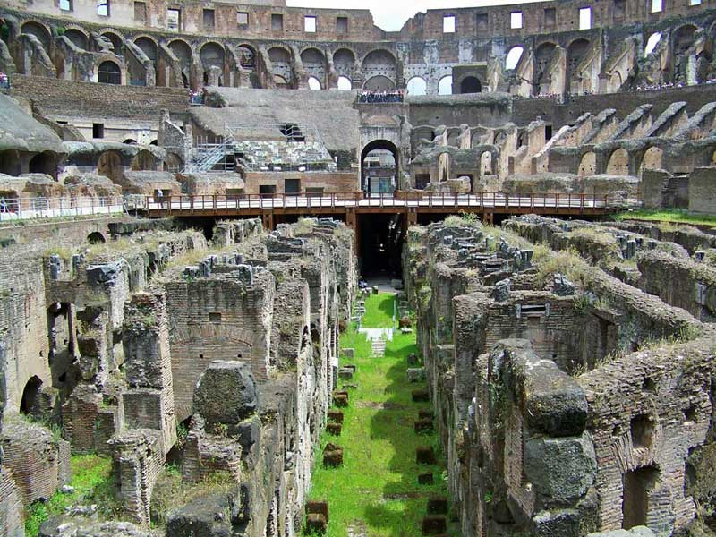 Colosseum Underground Chambers, Two Days in Rome