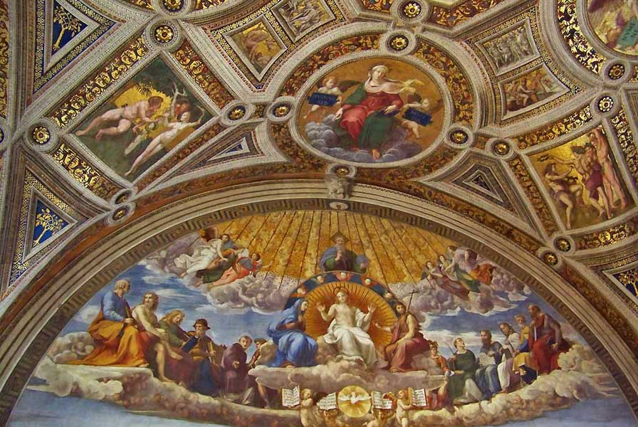 Disputation of the Sacrament by Raphael, Vatican Museums, Two Days in Rome