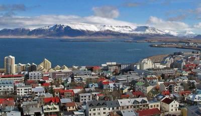 Downtown Reykjavik from Hallgrimskirkja Church, Visit Reykjavik, Iceland