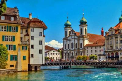 Jesuit Church, Reuss River, Visit Lucerne
