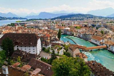 Lucerne view from Musegg Wall, Visit Lucerne