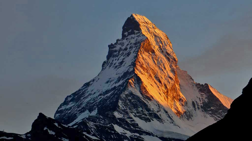 Matterhorn viewed from Zermatt Swiss village