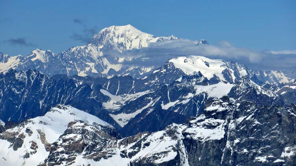 Mont Blanc from Matterhorn Glacier Paradise, Visit Zermatt