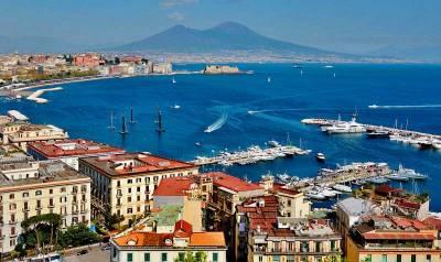 Naples Harbor, Mount Vesuvius from Posillipo, Visit Naples