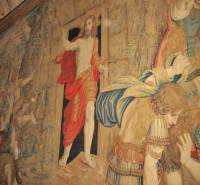Resurrection of Christ, perspective tapestry, Vatican Museums, Two Days in Rome