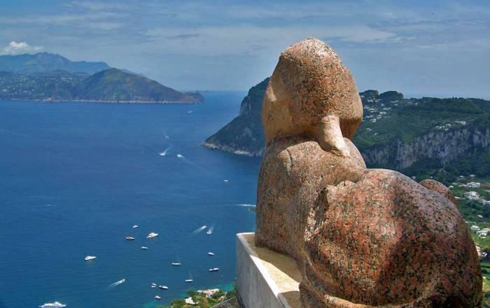 Sphinx, Villa San Michele, Anacapri, Visit Capri