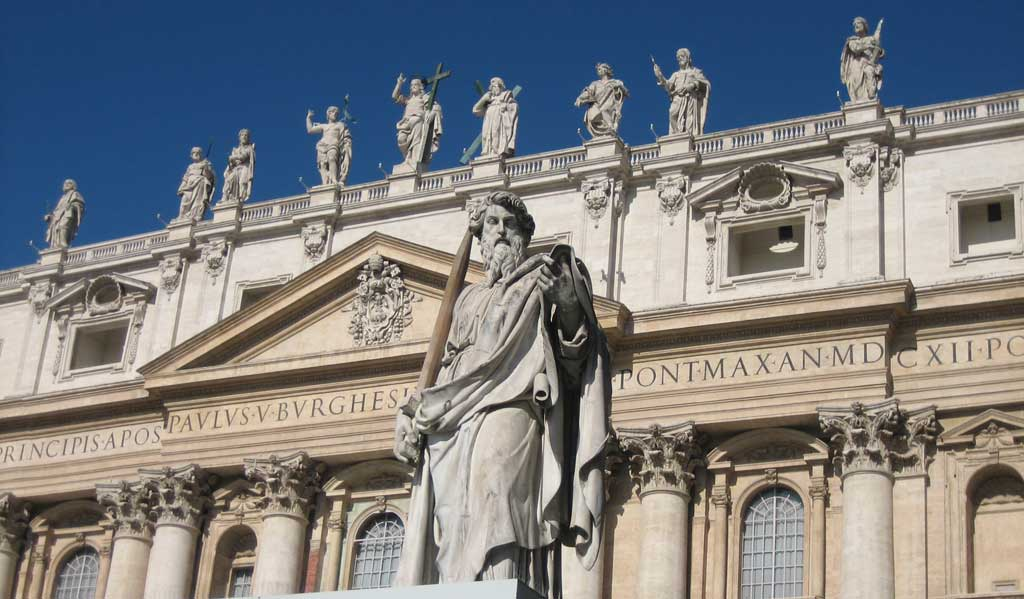 St Peter's Basilica Exterior, Two Days in Rome