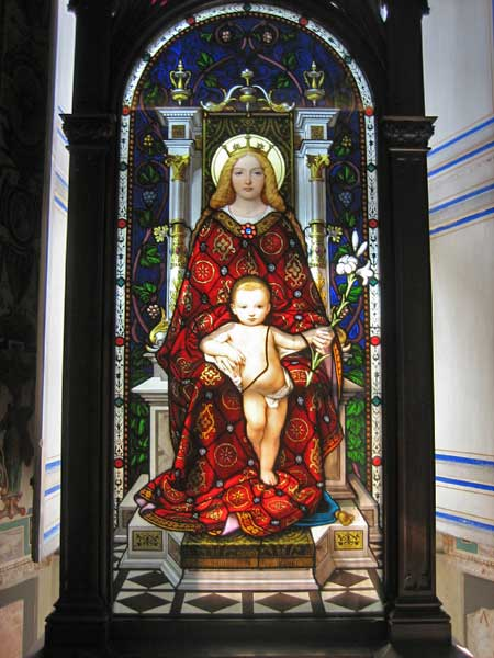 Stained Glass Madonna and Child, Vatican Museums, Two Days in Rome