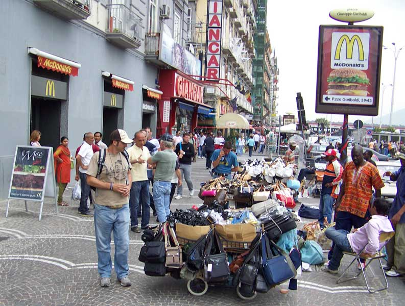 Street Vendors, Piazza Garibaldi, Naples, Pompeii Day Trip