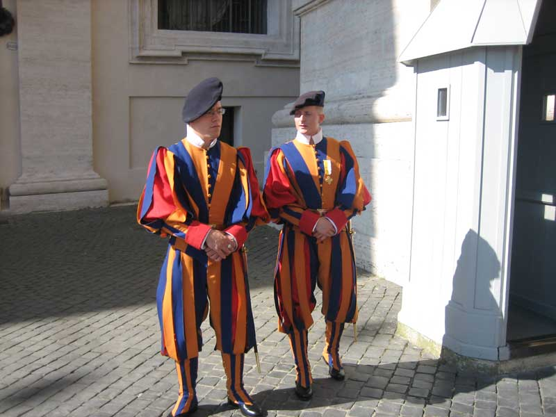 Swiss Guard, Vatican Museums, Two Days in Rome