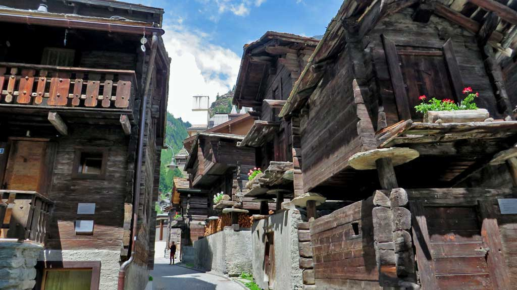 Traditional Wood Houses, Visit Zermatt Swiss Village