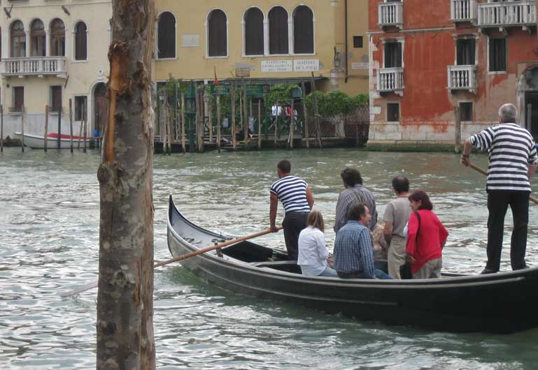 Traghetto Gondola Crossing Grand Canal, Venice Self Guided Tour, Italy