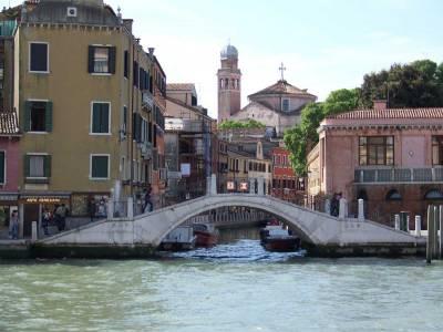 Venice Canal Foot Bridge, Visit Venice, Italy