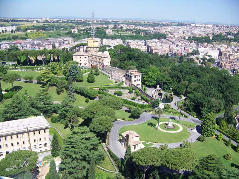 Vatican View from St Peter's Cupola, Visit Rome