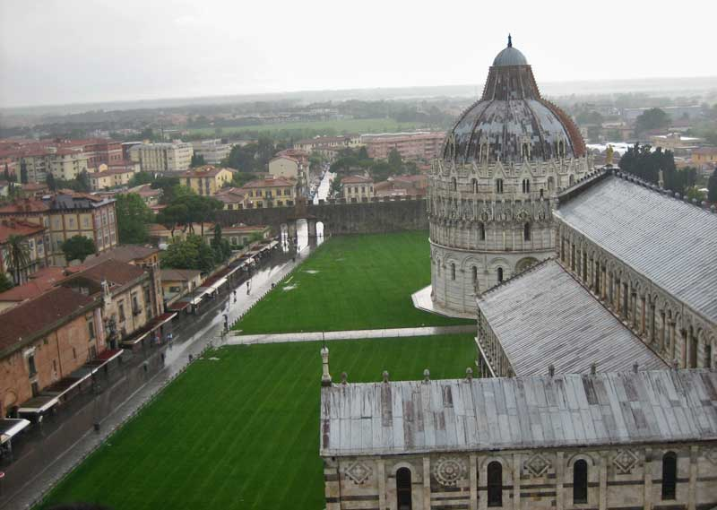 View Leaning Tower to Baptistry, Pisa Self Guided Tour