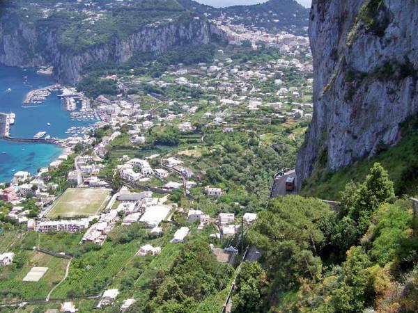 Villa San Michele view of Capri