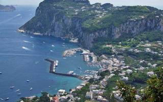 Villa San Michele view to Capri