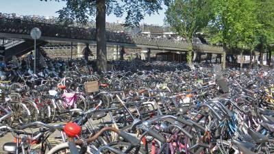 Amsterdam Centraal Train Station Bikes, Visit Amsterdam