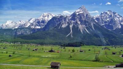 Austrian Alps near Garmisch-Partenkirchen