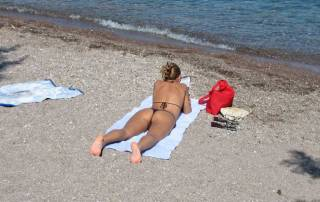 Beach String Bikini, Patmos Visit