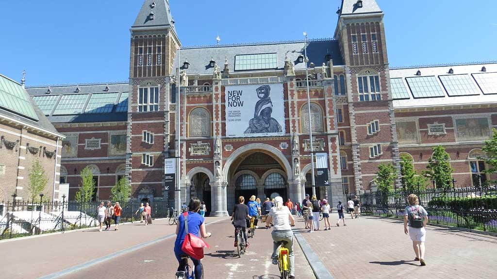 Bike straight through Rijksmuseum, Visit Amsterdam