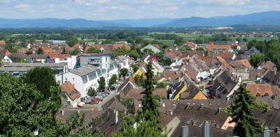 View from St Stephan's Minster, Visit Breisach
