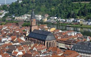 Church of the Holy Spirit from Heidelberg Castle, Rhine River Cruise excursion