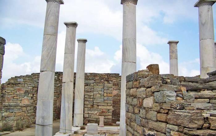 Delos Marble Columns, Delos Day Trip