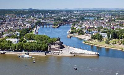 Deutsches Eck, Rhine River, Moselle River, Visit Koblenz