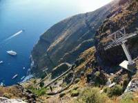 Fira Cable Car Gondola, Visit Santorini