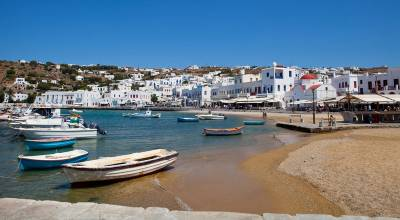 Fishing Boats, Old Harbor, Chora, Visit Mykonos