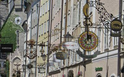 Getreidegasse, Traditional Street Signs, Visit Salzburg