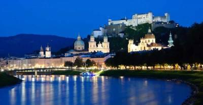 Hohensalzburg Castle above Salzburg Old Town