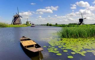 Kinderdijk Windmills near Rotterdam, Rhine River Cruise