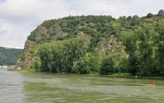 Lorelei or Loreley, Dangerous Rhine River Turn, Romantic Rhine