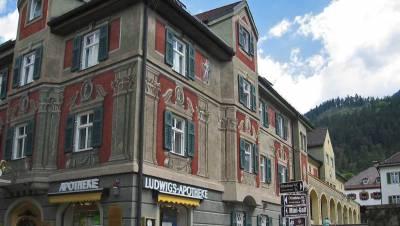 Ludwigs Apotheke, Bavarian exterior, Ludwigstrasse, Garmisch-Partenkirchen