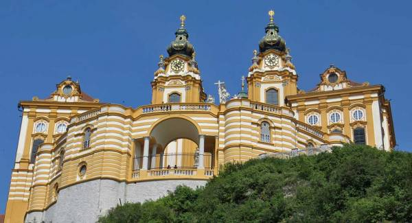 Melk Abbey from Below, Visit Melk