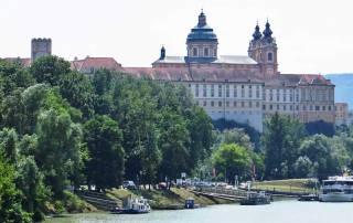 Melk Abbey from Danube River, Visit Melk