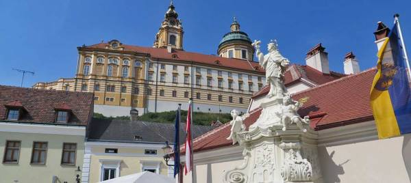 Melk Abbey from Town of Melk, Visit Melk