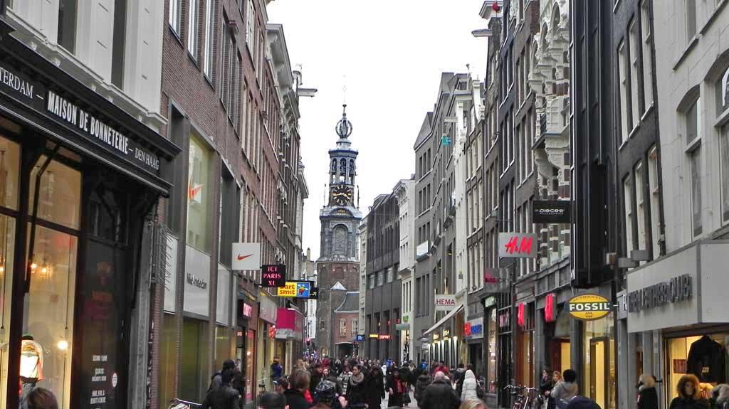 Munttoren Mint Tower, Kalverstraat Pedestrian Walk, Visit Amsterdam